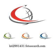 c, brief, schneller, logo, schablone