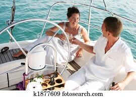 Couple on cruise.