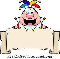 Cartoon Jester Banner