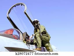 Fighter Pilot and Jet
