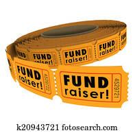 Fundraiser 50 Fifty Raffle Ticket Roll Charity Event Raising Mon