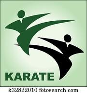 karate logo poster