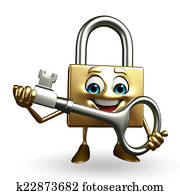 Lock Character with key