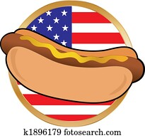 Hot Dog American Flag