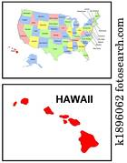 USA state of Hawaii
