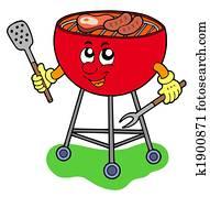 Cartoon barbeque