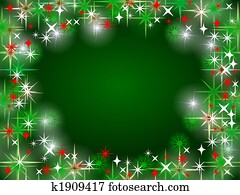 christmas card background green