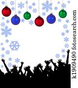 christmas party placard