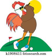 Rooster Golfer
