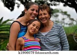 Three generations of Hispanic women