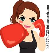 Woman Boxing Gloves