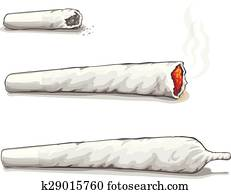 Joint or spliff. Drug consumption, marijuana and smoking drugs
