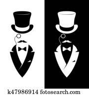 Vintage label gentlemen club.
