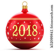 New Year 2018 holiday concept