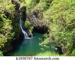 Waterfalls along the Road to Hana, Maui, Hawaii