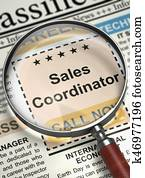 Sales Coordinator Wanted. 3D.
