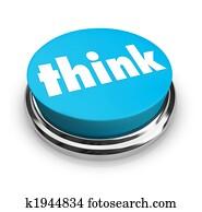 Think - Blue Button