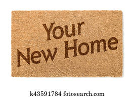 Stock Photo Of Home Sweet Home Welcome Mat On Floor K41391472