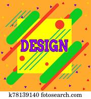 Handwriting text writing Design. Concept meaning plan drawing produced to show look function or workings of building Asymmetrical uneven shaped format pattern object outline multicolour design.