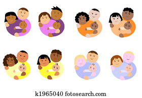 different ethnicity family