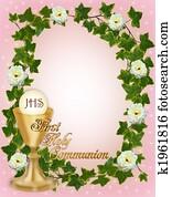 First Holy Communion Invitation Border