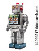 Toy tin robot