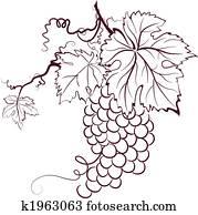 Winogrona Grafika Clipart 34 853 Winogrona Możliwość Wyszukiwania