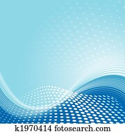 Blue Wave Pattern Background