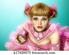 Girl in Lolita Style Dress 3d CG