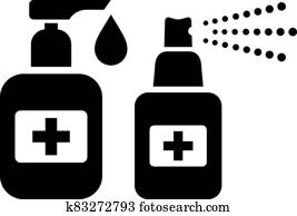 Hand sanitizer vector icon