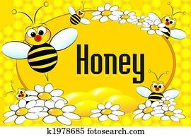 Honey pot label or brochure