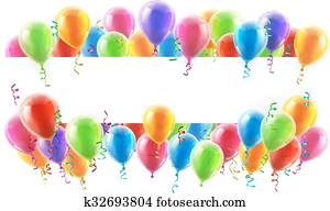 luftballone, parteibanner