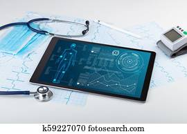 Blood composition diagram stock photo images 36 blood composition medical full body screening software on tablet ccuart Image collections