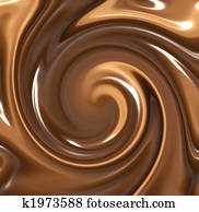 melted chocolate swirl