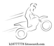 vector illustration moto cross