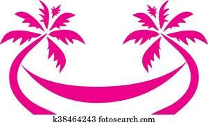 Tropical Palm Tree Hammock Logo
