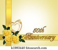 Wedding Anniversary yellow roses 50th