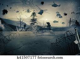 Background of a war