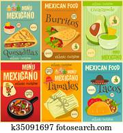 Mexican Food Mini Posters Set