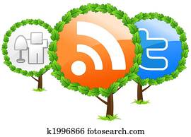 Social media trees icon