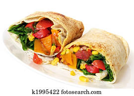 Vegetable Wrap Sandwich
