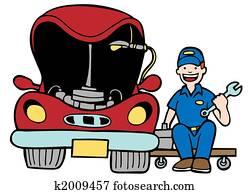 Auto Mechanic Car Hood