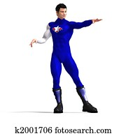 Blue Super Hero