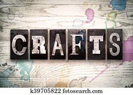 Crafts Concept Metal Letterpress Type