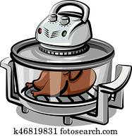 Clip Art Of Electric Cooker K27939166 Search Clipart