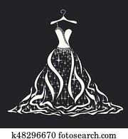 heiraten kleid, silhouette