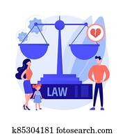 Matrimonial law abstract concept vector illustration.