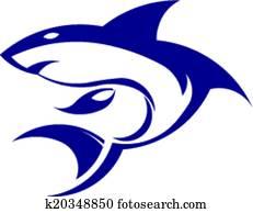 Shark icon image.