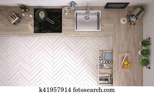 Kitchen top view