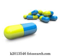 Pills - Capsules Close-up